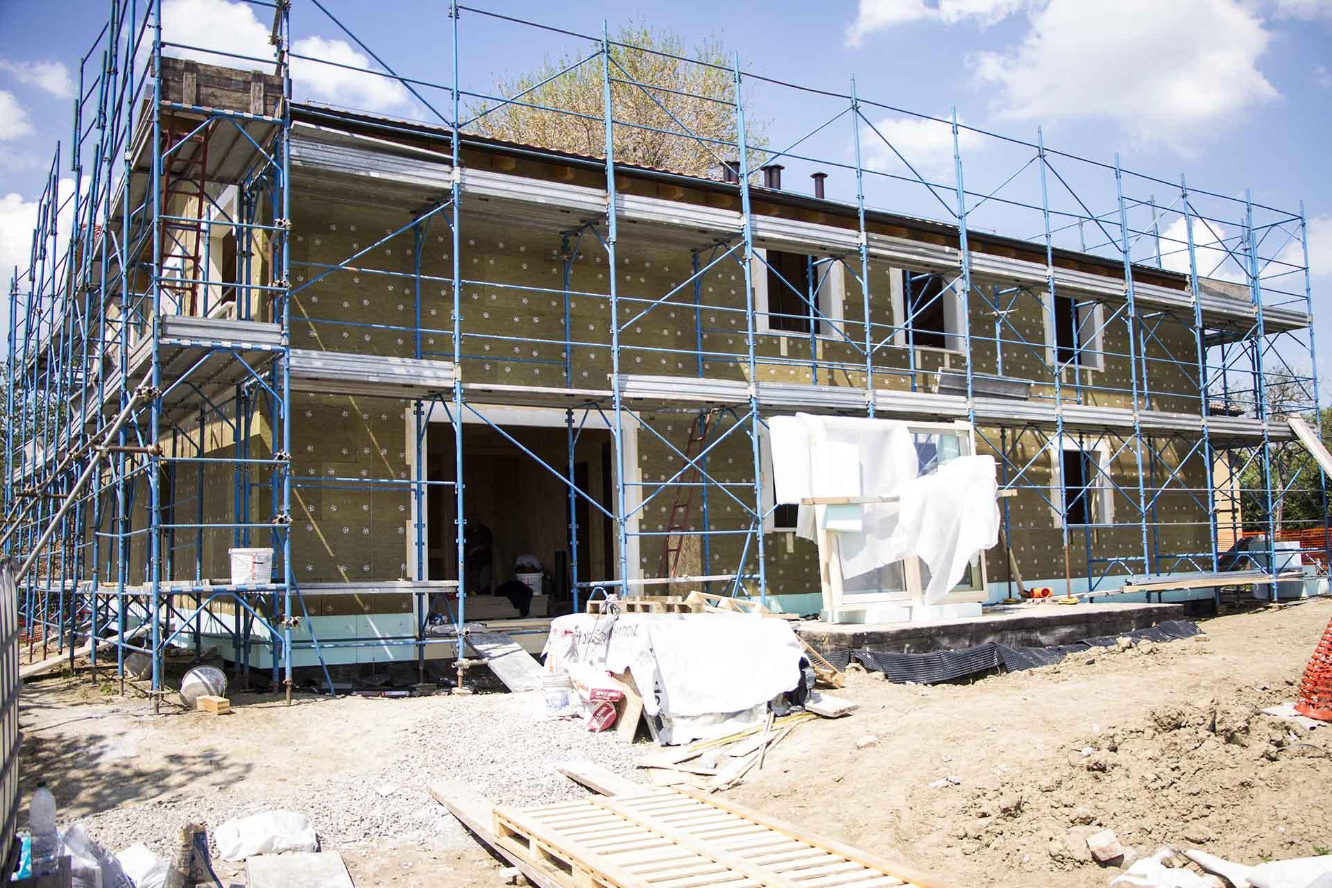 cantiere-costruzione casa in legno-mazzocchi legno-bologna